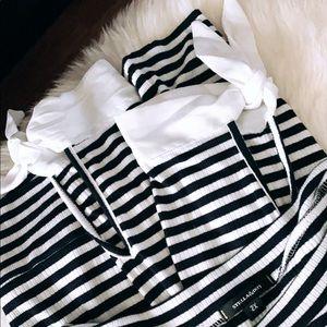 Stella & Dot Stripe Shirt Bows Preppy Nautical